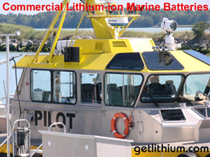 Lithium-ion batteries are the ideal choice for all Commercial Vessels.