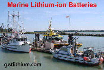Lithium-ion marine batteries for yachts, sailboats, commercial ships and more. Photo: Steveston - Vancouver, BC