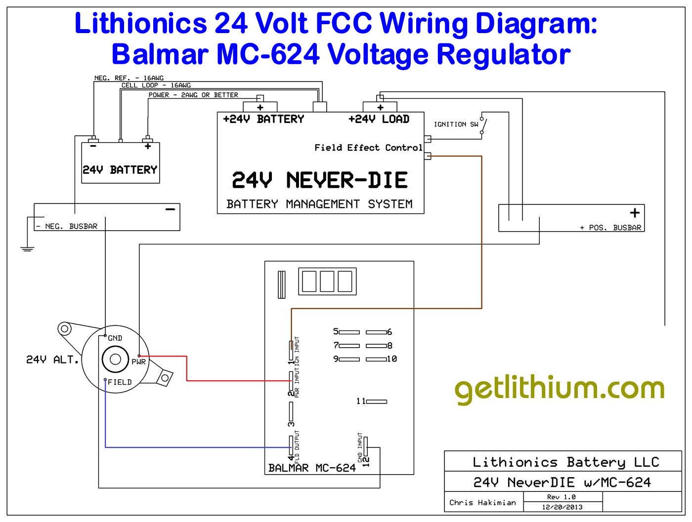 Lithionics Neverdie Battery Management Systems Superior Lithium 72 Volt Wiring Diagram Click On The Image For A Larger Fcc Of Balmar Mc 624