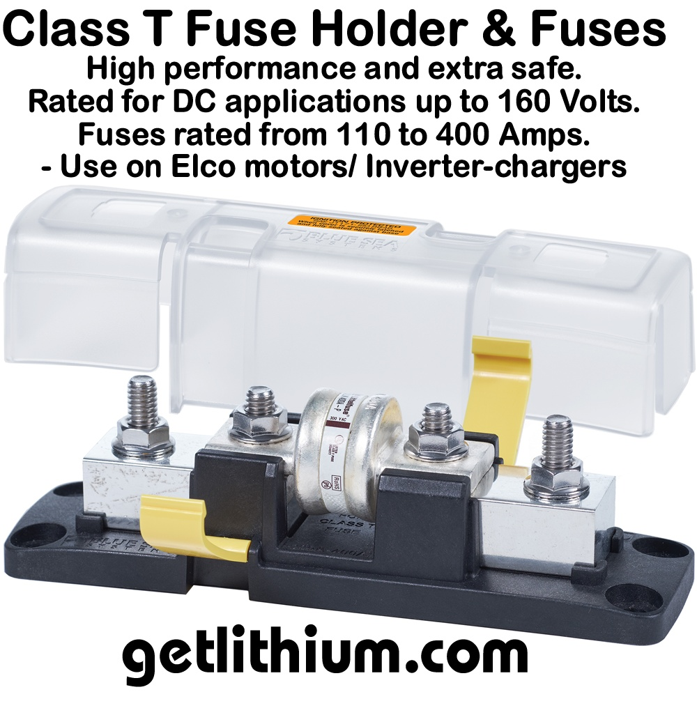Blue Sea Marine Electric Components Lithium Ion Battery Terminal 400 Amp Fuse Box Class T Block Holder And Fuses