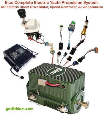 Elco electric propulsion system components - click on image for a bigger picture...