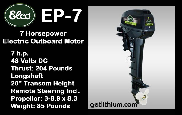 Elco Motor Yachts 48 Volt 7 Hp Electric Outboard Motor For