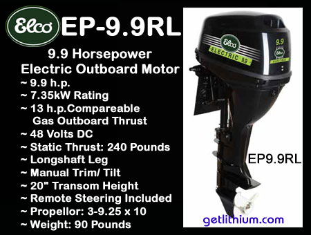 Outboard motor weights for 450 hp electric motor