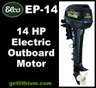 Click here for the Elco EP-14 high efficiency electric outboard marine propulsion motor