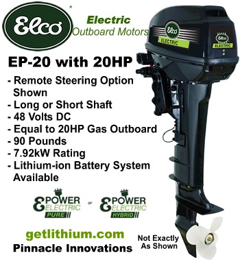 Click here for details on this Elco 20HP electric outboard motor