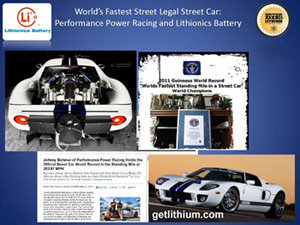 Guinness World Record for Ford GT40: world's fastest street legal car