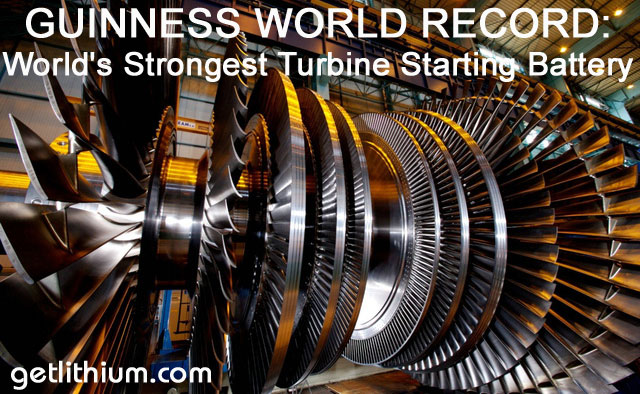 World Record for the world's strongest turbine engine cranking battery