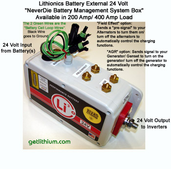Lithium-ion NeverDie external battery management system box
