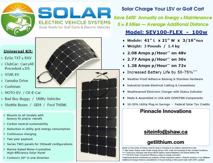 Rv  Marine And Electric Golf Cart Solar Power Page  Go Power And Helios Electric Golf Cart Solar