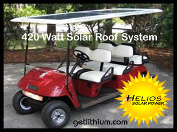 Enjoy your golf game more when you know you have power to spare with a solar powered golf cart!
