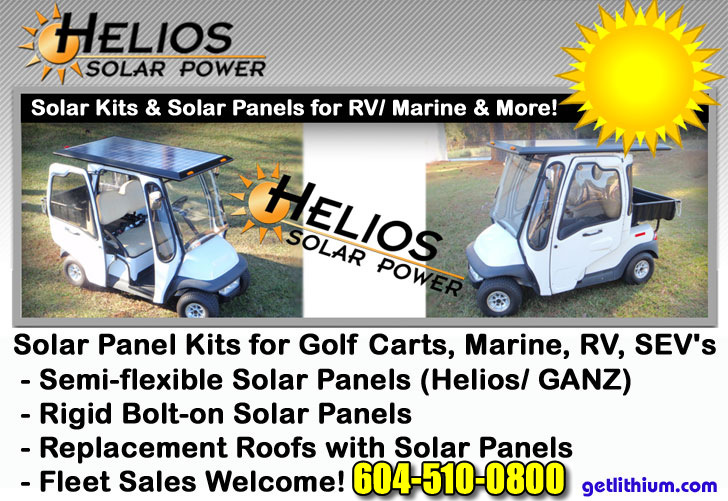Helios Solar Power Panels for RV, Yachts, Sailboats and Golf Carts on power golf book, power sprayer, power tools, power golf trolley, power trailer,
