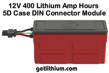 Lithionics 12 Volt Standard Series lithium-ion battery module with 400 Amp hours capacity