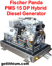 Fischer Panda PMS 15 DP 14.1 kilowatt diesel hybrid electric generator - click for a larger image...