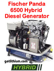 Fischer Panda PMS 6500 5.5 kilowatt diesel hybrid electric generator - click for a larger image...