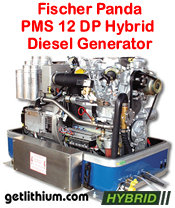 Fischer Panda PMS 12 DP 10.4 kilowatt diesel hybrid electric generator - click for a larger image...