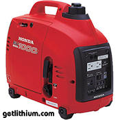 Honda EU1000i 1 kilowatt electric generator - click for a larger image...