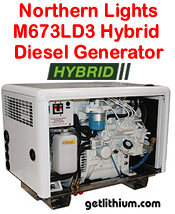 Northern Lights M673D3 5 kilowatt diesel hybrid electric generator - click for a larger image...
