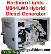Northern Lights M844LW3 20 kilowatt diesel hybrid electric generator - click for a larger image...