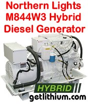 Northern Lights M844W3 16 kilowatt diesel hybrid electric generator - click for a larger image...