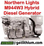 Northern Lights M944W3 30 kilowatt diesel hybrid electric generator - click for a larger image...