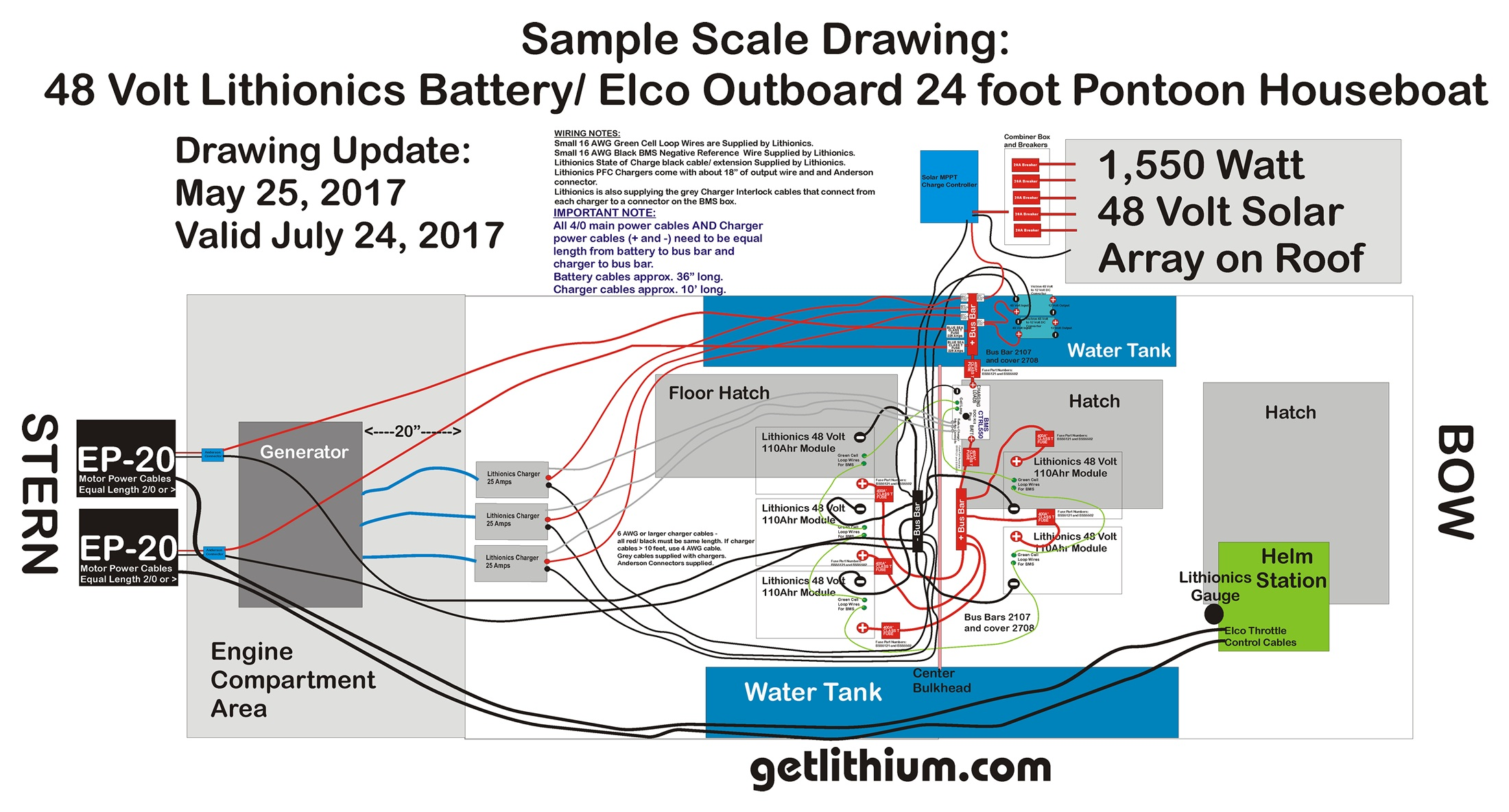 Lithium Ion Battery Installations Page Some Of The Lithionics Wiring Diagram For Recreational Vehicles Sample 48 Volt Marine