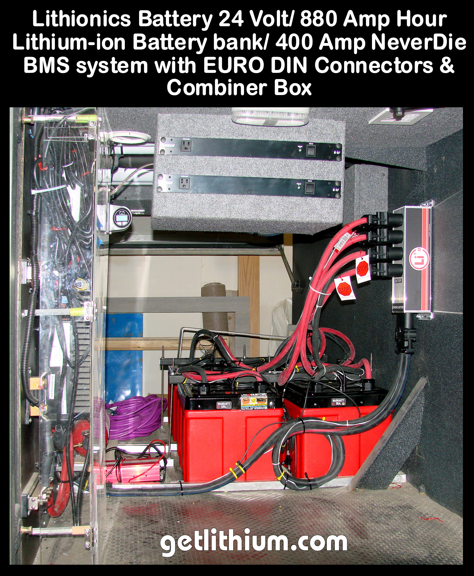 Lithionics Neverdie Battery Management Systems Superior Lithium Circuit Tube Power Supply Schematic Balmar Alternator Wiring Diagram Click For A Larger Ion Rv Installation Photo