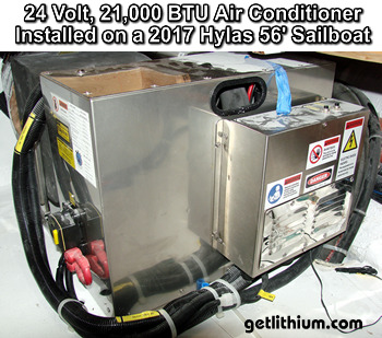 24 Volt DC marine air conditioning system