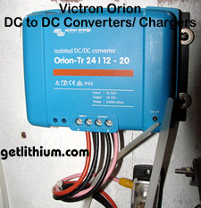 Victron Orion DC to DC power converters and battery chargers for RV and marine electrical installations
