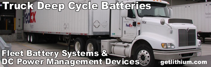 Powerful Deep Cycle Commercial Truck & Diesel Equipment Batteries