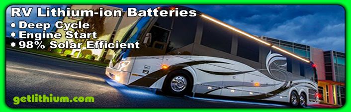 RV Deep Cycle House Power Lithium-ion Batteries & Diesel Engine Starting Batteries.