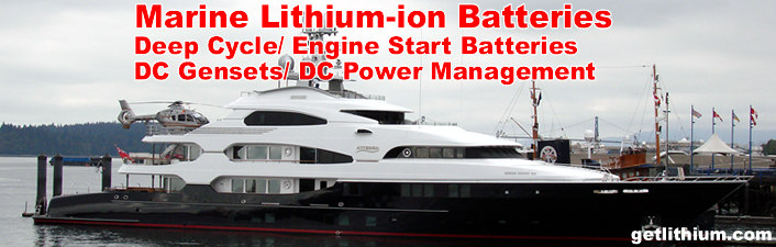 Marine Deep Cycle House Power Batteries & Diesel Engine Starting Batteries house power and engine cranking batteries for yachts, boats and sailboats.